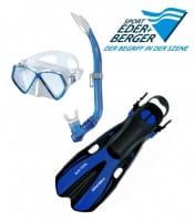 Kinderschnorchelset Deluxe Mares Kinderschwimmset (ca. 8 - 12 Jahre) Blau