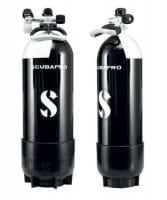 Scubapro Tauchflasche 12 Liter (lang) mit Standfuss & Mono-Ventil