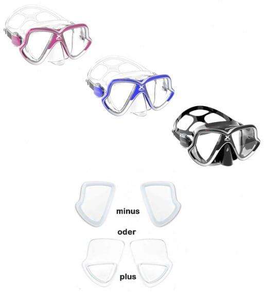 Mares X-Vision Mid 2.0 Tauchmaske mit optische Gläser