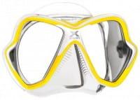 Mares X-Vision Tauchermaske New 2014 gelb-weiß-klar