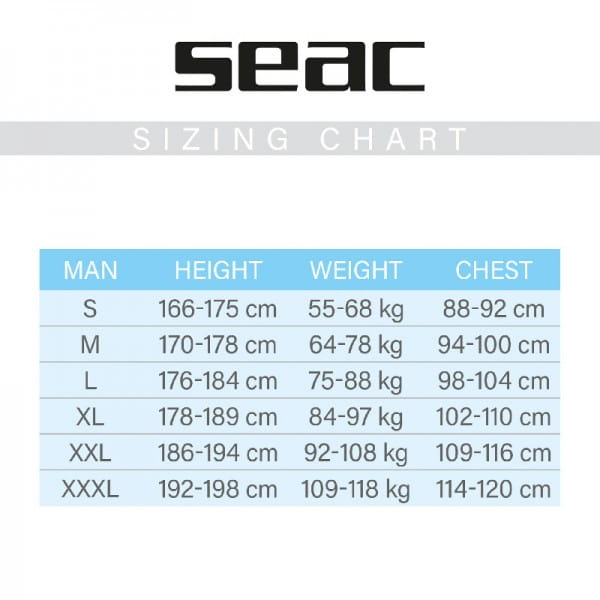 Seac Sub Feel Herren 3mm Tauchanzug