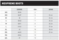 Mares Boots Größentabelle