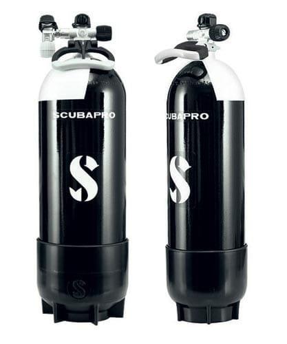Scubapro 12l kurz PTG/Tauchflasche mit Standfuss und Ventil